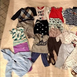 Lot of 22 clothes for baby boy 9 months